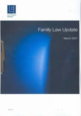 Family Law Update - March 2007