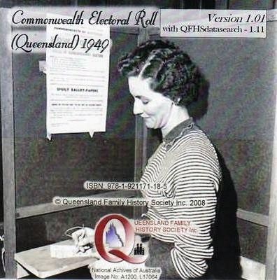 Queensland Commonwealth Electoral Roll 1949 CD-ROM