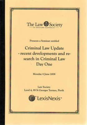 Criminal Law Update Day One