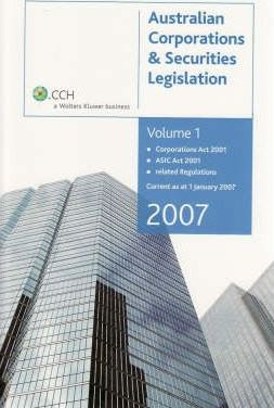 CCH Corporations Law Study Kit 2007