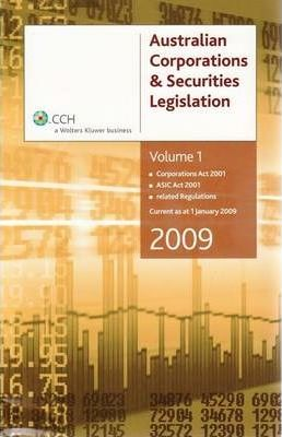 CCH Corporations Law Study Kit 2009