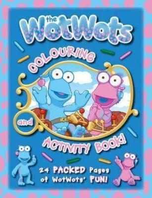 The Wotwots 24p Colouring Bk Blue