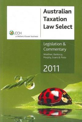 Australian Taxation Law Select 2011