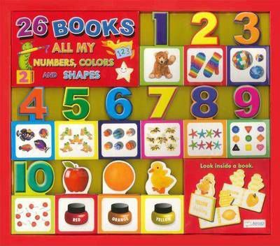 26 Minature Board Books - All My Numbers, Colours and Shapes
