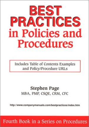 Best Practices in Policies and Procedures