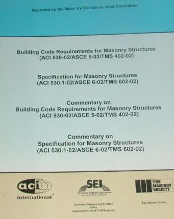 Building Code Requirements for Masonry Structures and Specification for Masonry Structures 2002
