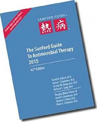 The Sanford Guide to Antimicrobial Therapy 2015 Cover Image