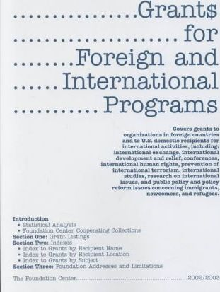 Grants for Foreign and International Programs 2002/2003