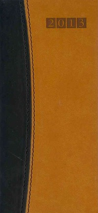 Capri Black /Tan Pocket Diary 2013 Calendar
