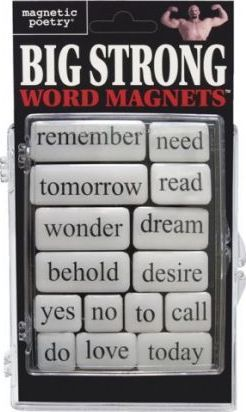 Big Strong Word Magnets