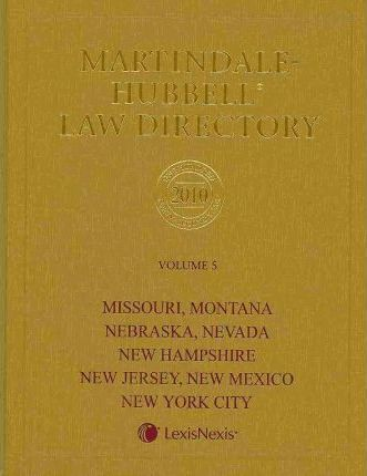 Martindale-Hubbell Law Directory 2010