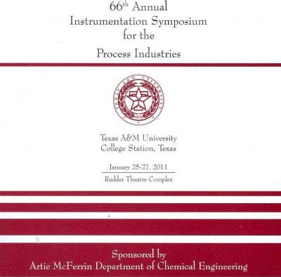 66th Annual Instrumentation Symposium for the Process Industries