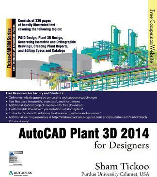 Autocad plant 3d 2014 for designers prof sham tickoo for Plante 3d dwg