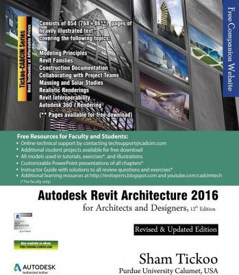 Autodesk Revit Architecture 2016 for Architects and