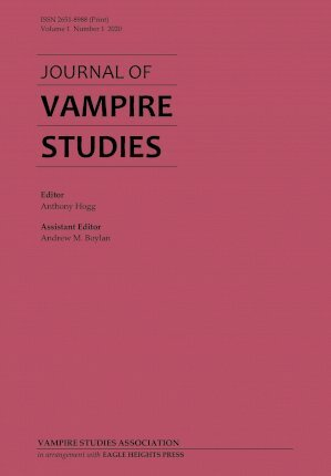 Journal of Vampire Studies Cover Image