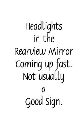 Story Starter Journal  Headlights Rearview Sign Simple Lined Page Journal