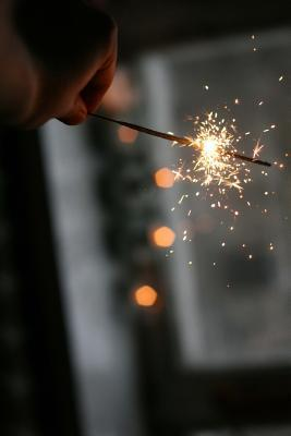 Holding a Sparkler Journal  Take Notes, Write Down Memories in This 150 Page Lined Journal