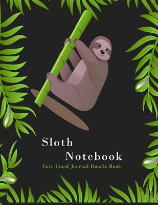 Astrosadventuresbookclub.com Sloth Notebook : Cute Lined Journal Doodle Book: Over 120 Pages, Large 8,5 X 11 Lined Blank Journal for Writing & Notes Image