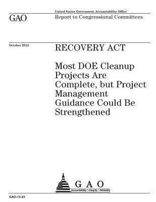 Recovery ACT: Most Doe Cleanup Projects Are Complete, But Project Management Guidance Could Be Strengthened: Report to Congressional Committees.