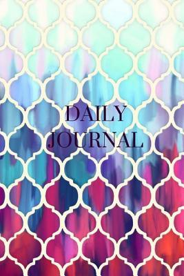 Daily Journal - Purple Mosaic : 6 X 9, Lined Journal, for Writing, Blank Book, Durable Cover,150 Pages