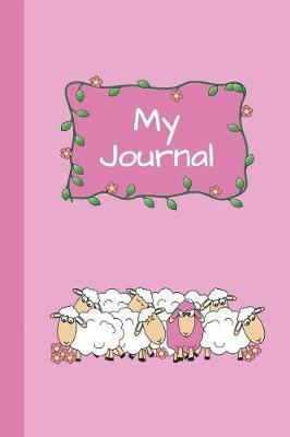 My Journal  Sheep (Pink) 6x9 - SKETCH JOURNAL - Pages are LINED ON THE BOTTOM THIRD with blank space on top