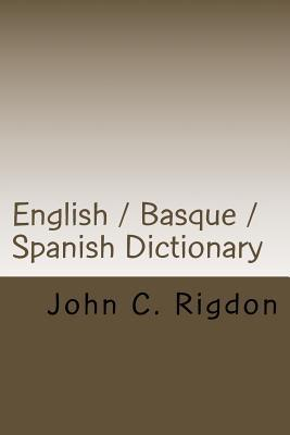 English / Basque / Spanish Dictionary