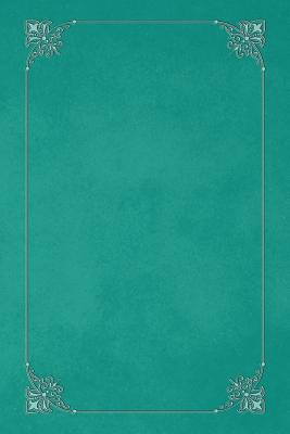 Persian Green 101 - Blank Notebook with Fleur de Lis Corners  Soft Cover, 6 X 9 Journal, 101 Pages