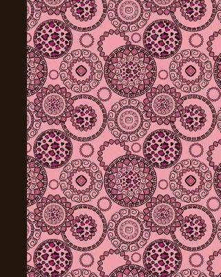 Journal  Animal Print Mandala (Pink) 8x10 - Lined Journal - Writing Journal with Blank Lined Pages