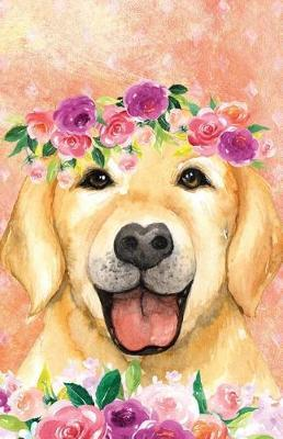Bullet Journal for Dog Lovers Labrador in Flowers  162 Numbered Pages with 150 Dot Grid Pages, 6 Index Pages and 2 Key Pages in Easy to Carry 5.5 X 8.5 Size.