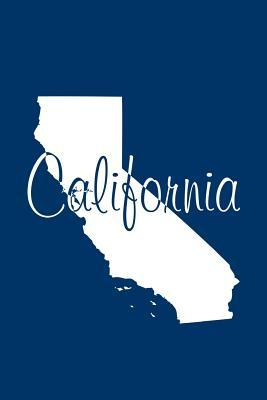 California - Navy Blue Lined Notebook with Margins  101 Pages, Medium Ruled, 6 X 9 Journal, Soft Cover