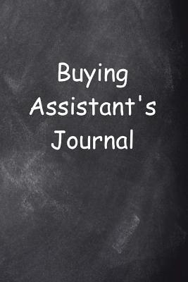 Buying Assistant's Journal Chalkboard Design  (notebook, Diary, Blank Book)