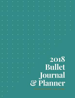 2018 Bullet Journal & Planner - Dotted Journal Notebook - Large; 300 Pages  Chocolate/Teal