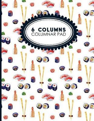 6 Columns Columnar Pad  Accountant Workbook, Accounting Record Book, Ledger Paper Book, 8.5 x 11, 100 pages