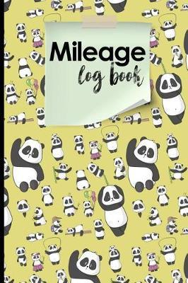 Mileage Log Book  Mileage Counter, Mileage Logbook, Vehicle Mileage Book, Cute Panda Cover