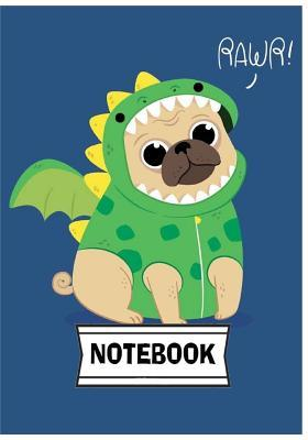 Notebook  Cute Pug Journal Diary, 110 Lined Pages, 7 X 10