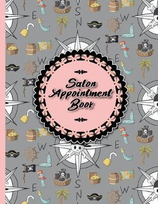 Salon Appointment Book  6 Columns Appointment Log, Appointment Scheduling Template, Hourly Appointment Book, Cute Pirates Cover
