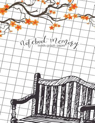 Notebook Memory  Math Graph Paper 1/2 Inch Squares 100 Pages Blank Quad Ruled Large (8.5 X 11)