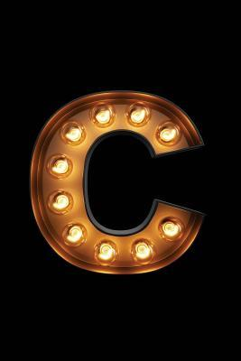 C  Glowing C Initial Notebook Monogram Initial C Journal - Personalized Notebook