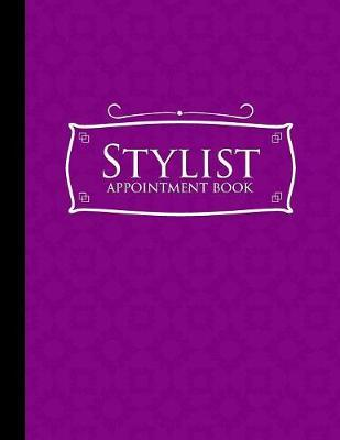 Stylist Appointment Book  6 Columns Appointment Organizer Planner, Cute Appointment Book, Timed Appointment Book, Purple Cover