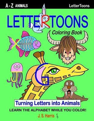 Lettertoons A-Z Animals Coloring Book