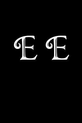 E E : Double Monogram Journal, 100 Pages, 6x9 Inches, Black Glossy Cover