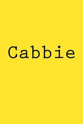Cabbie  Notebook, 150 Lined Pages, 6 X 9