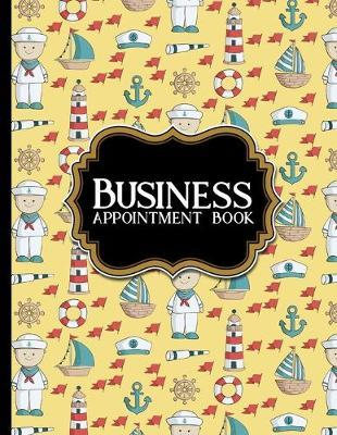 Business Appointment Book  2 Columns Appointment Note, At A Glance Appointment Book, Large Appointment Book, Cute Navy Cover