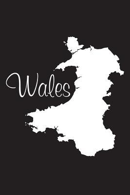 Wales - Black 101 - Lined Notebook with Margins - 6x9  101 Pages, Medium Ruled, 6 X 9 Journal, Soft Cover