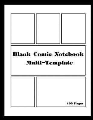 Blank Comic Notebook Multi-Template  Comic panel for drawing your own comics, Draw the idea and design sketchbook