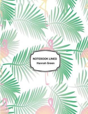 Notebook lined  Pink flamingos leaf Notebook Journal Diary, 110 pages, 8.5 x 11