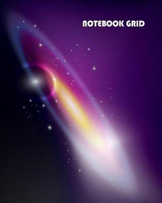 Notebook Grid  Galaxy Background Notebook Journal Diary, 120 Pages, 8 X 10