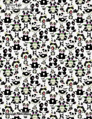 Panda Life Vocal + Piano Music Sheets  Vocal and Piano Music Sheets and Songwriting Notebook, Panda Life Happy Panda Pattern Msvocpiano Cover, 8.5x11, 200 Pages