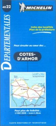 Michelin Map: Cote d'Armor