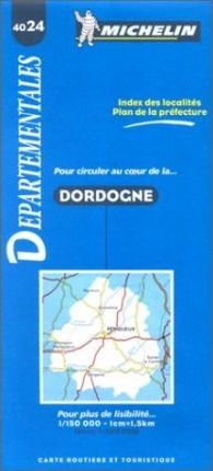 Michelin Map 4024: Dordogne